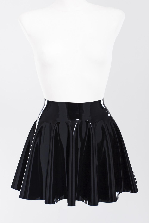 Пышная юбка солнце клеш из латекса Latex Flared Skirt
