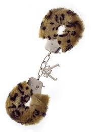 Наручники, Metal Handcuff With Plush, леопардовые