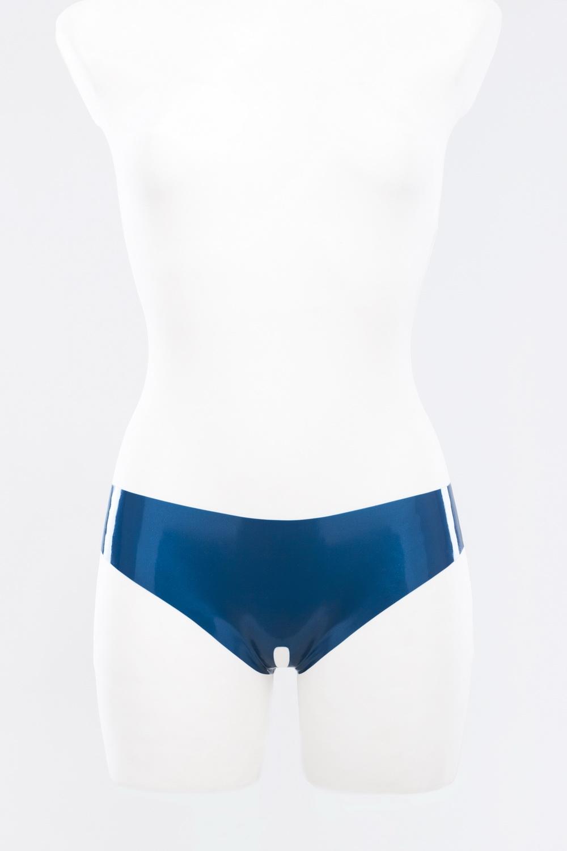Трусики-шортики из латекса с вырезом Latex Open Crotch Panties