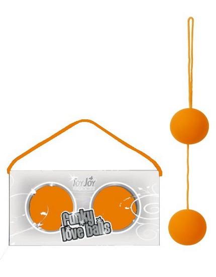 Вагинальные шарики FUNKY LOVE BALLS, оранжевые, 3.5 см
