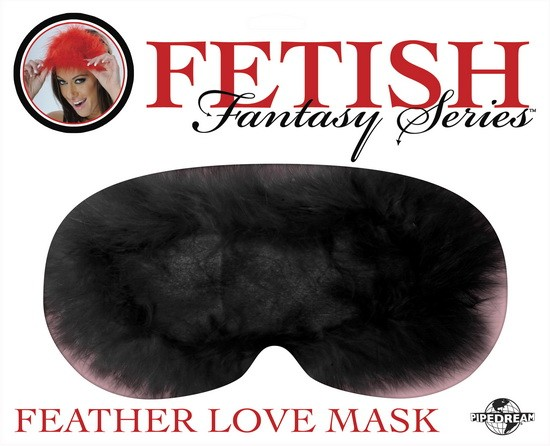 Маска FEATHER LOVE MASK - BLACK
