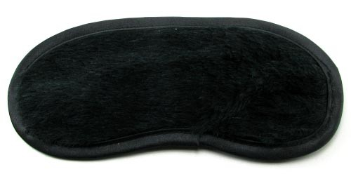 Маска FUR LINED LOVE SATIN MASK - BLACK