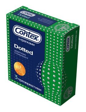 Презервативы CONTEX DOTTED (3шт.)