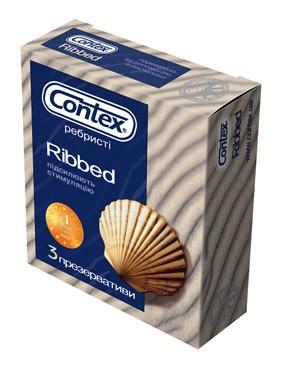 Презервативы CONTEX RIBBED (3шт.)