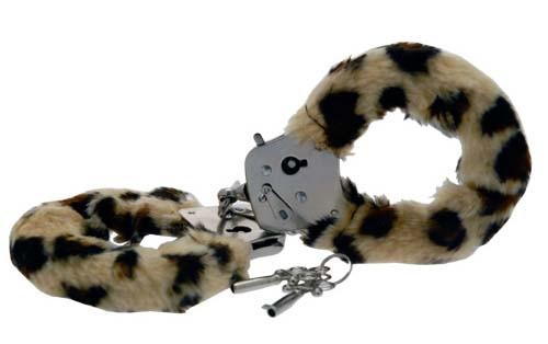 Наручники Furry Fun Cuffs, леопардовые