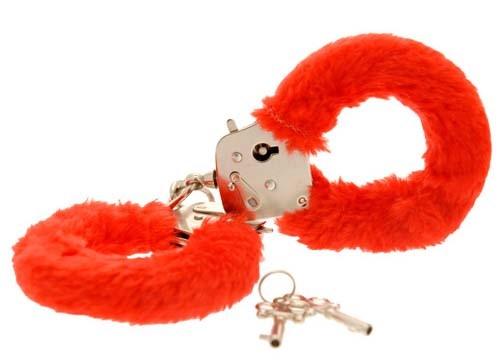 Наручники Furry Fun Cuffs, красные